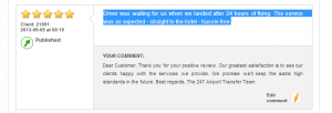 Stansted Taxi Service Feedback